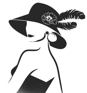 Lady in Hat silhouette