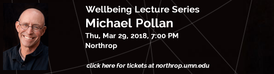 Wellbeing Lecture Series - Michael Pollan