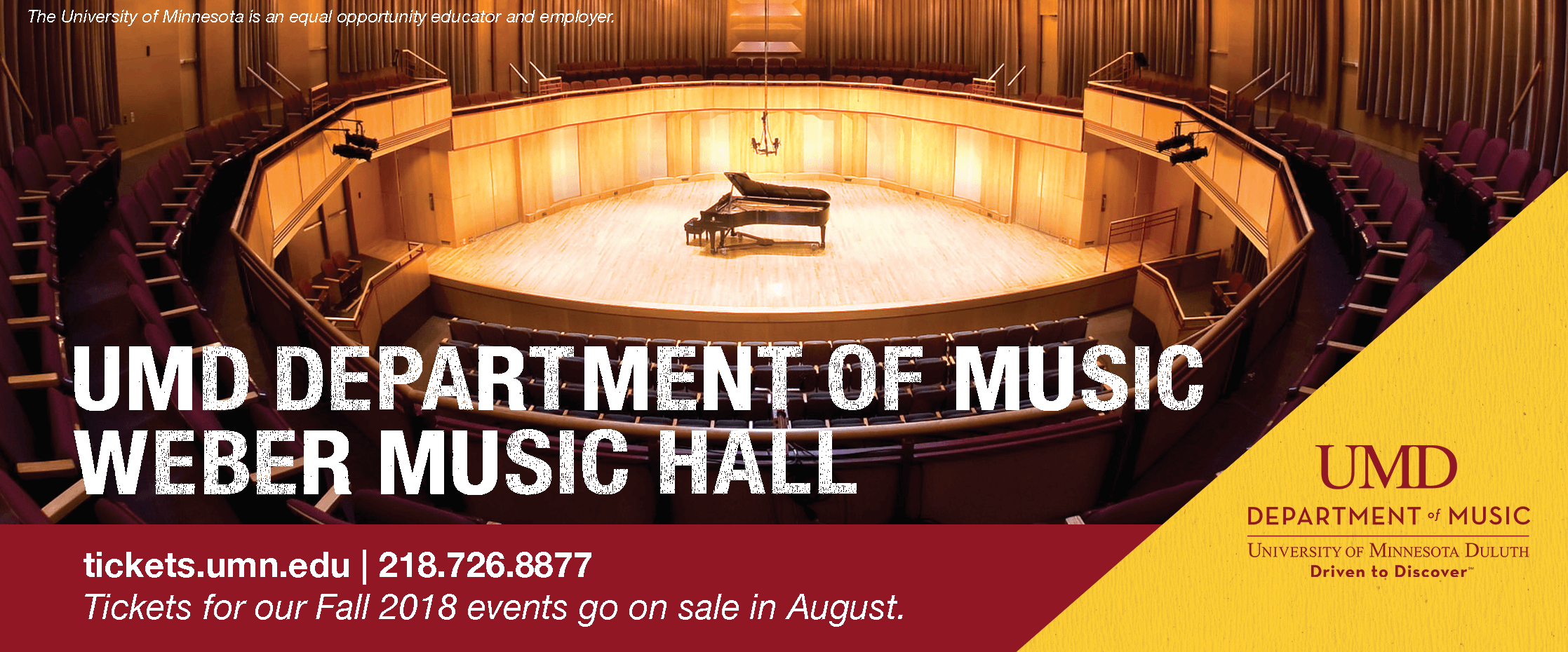 2018-19 Music events on sale in August
