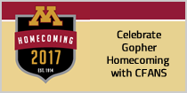 Celebrate Gopher Homecoming with CFANS