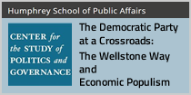 Center for the Study of Politics and Governance: The Democratic Party at a Crossroads: The Wellstone Way and Economic Populism