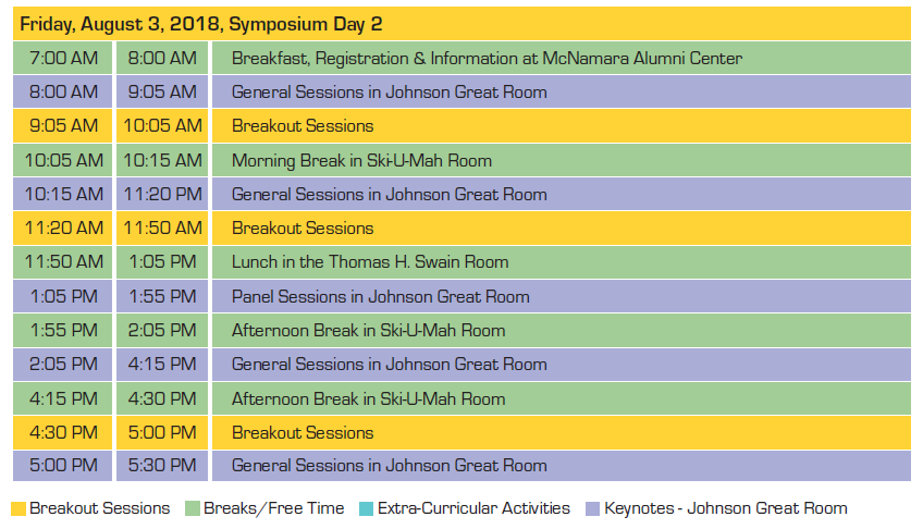 NeuroSafe 2018 Schedule at a Glance (Day 2)
